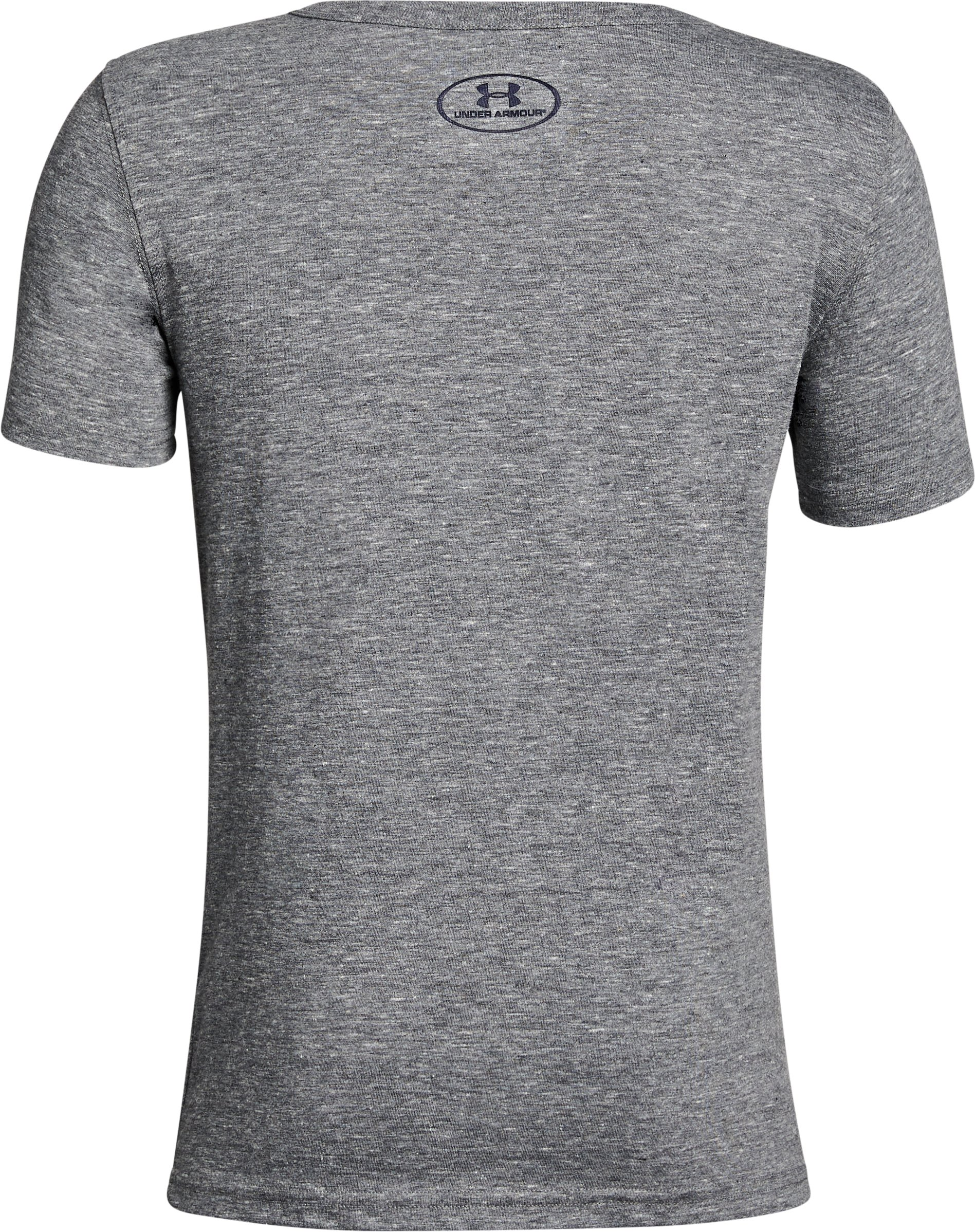 Boy's Auburn Iconic Tri-Blend Crew, Gray,