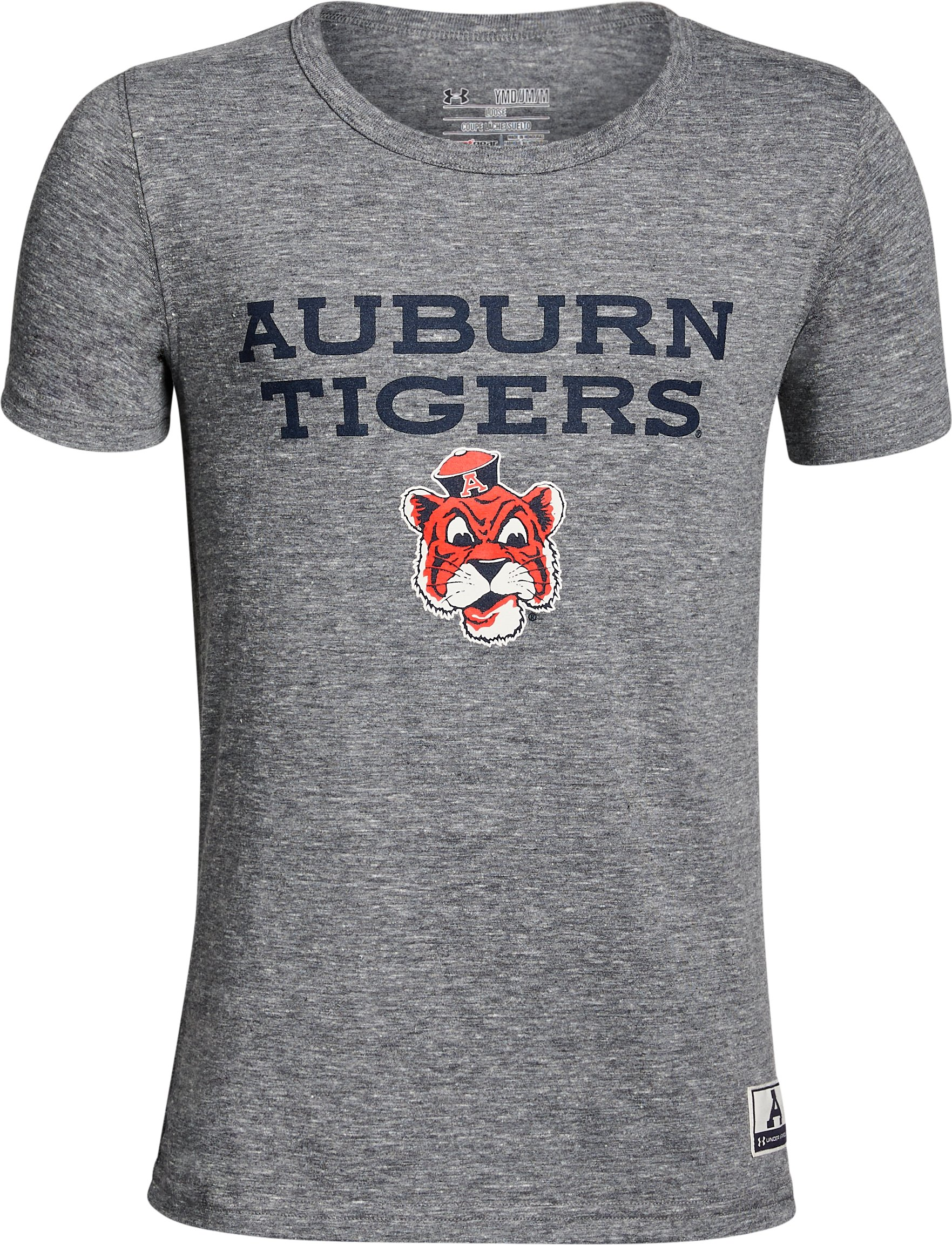 Boy's Auburn Iconic Tri-Blend Crew, Gray