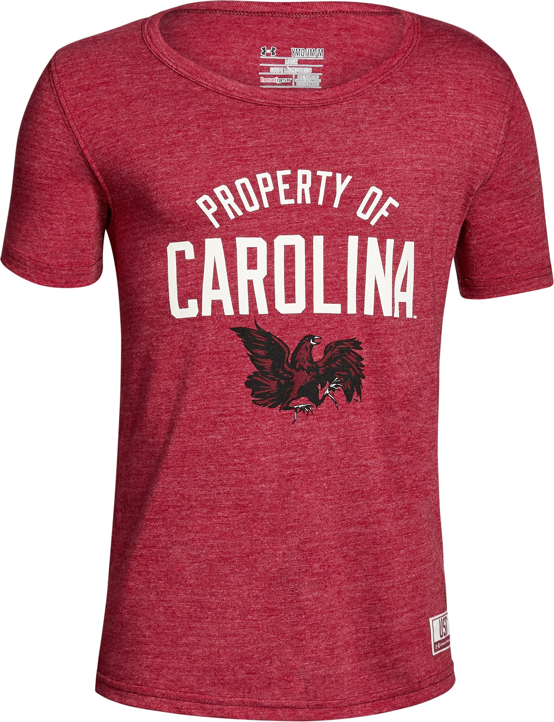 Boy's South Carolina Iconic Tri-Blend Crew, Cardinal