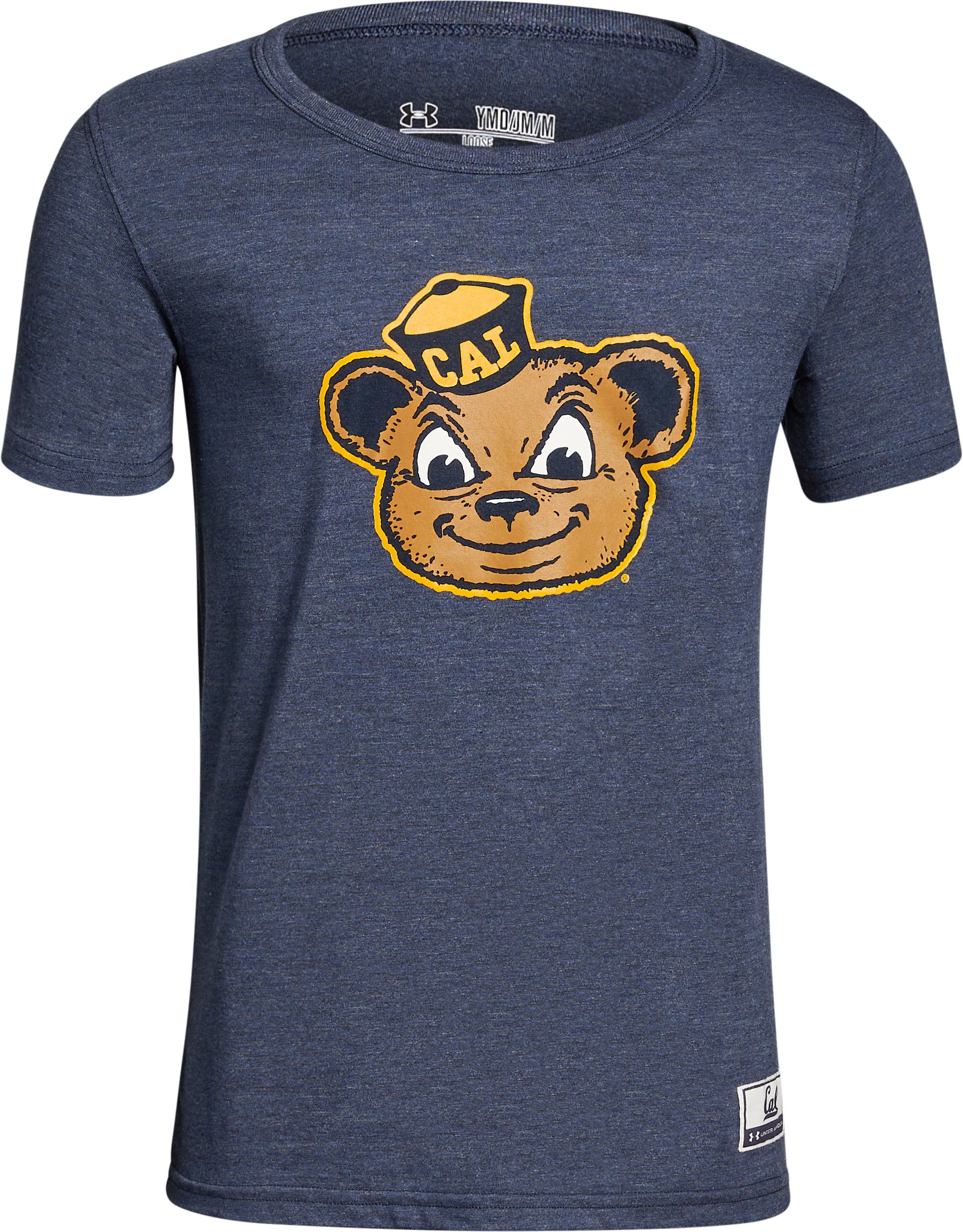 Boy's Cal Bears Iconic Tri-Blend Crew, Midnight Navy, zoomed image