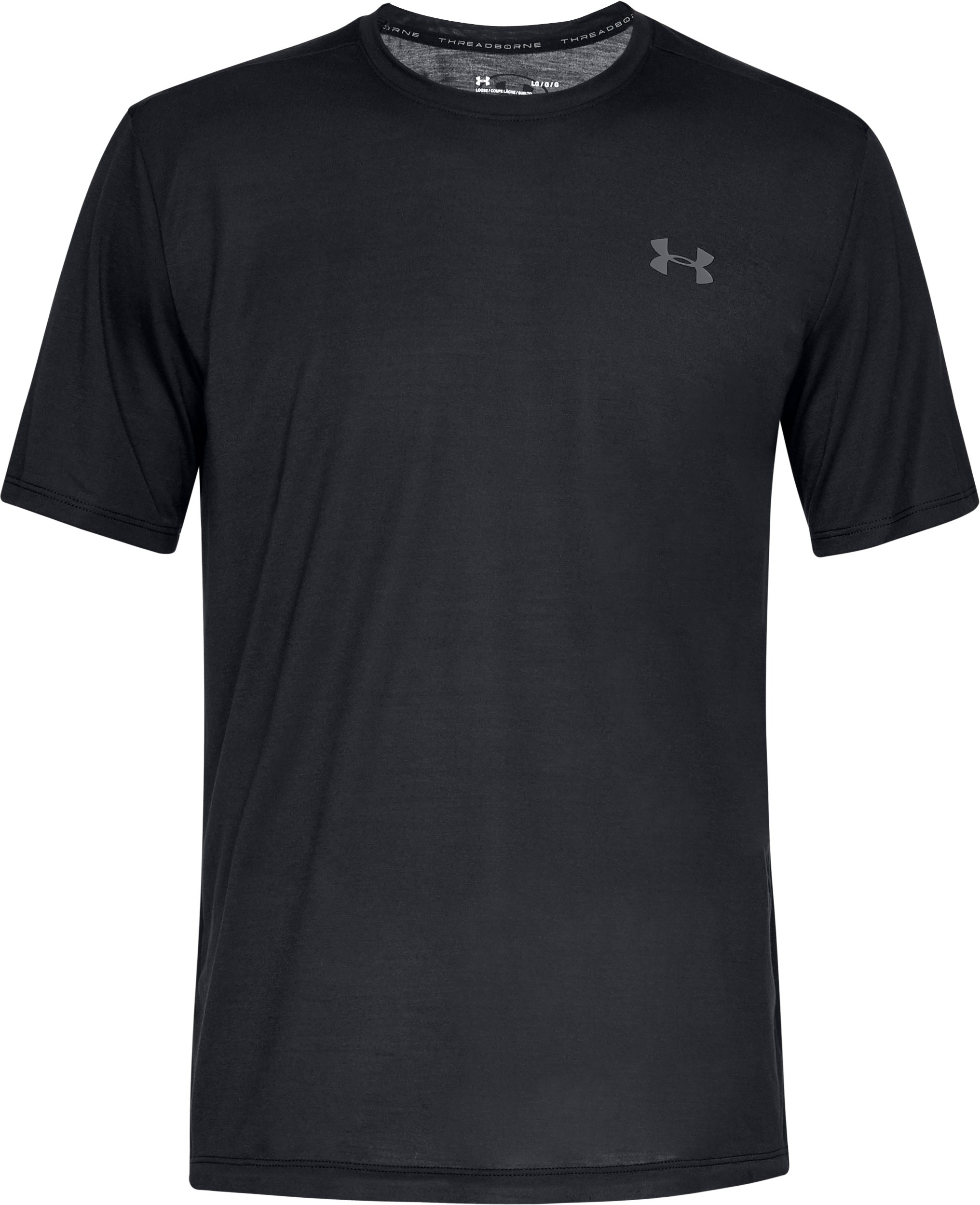 Men's UA Siro Short Sleeve, Black ,