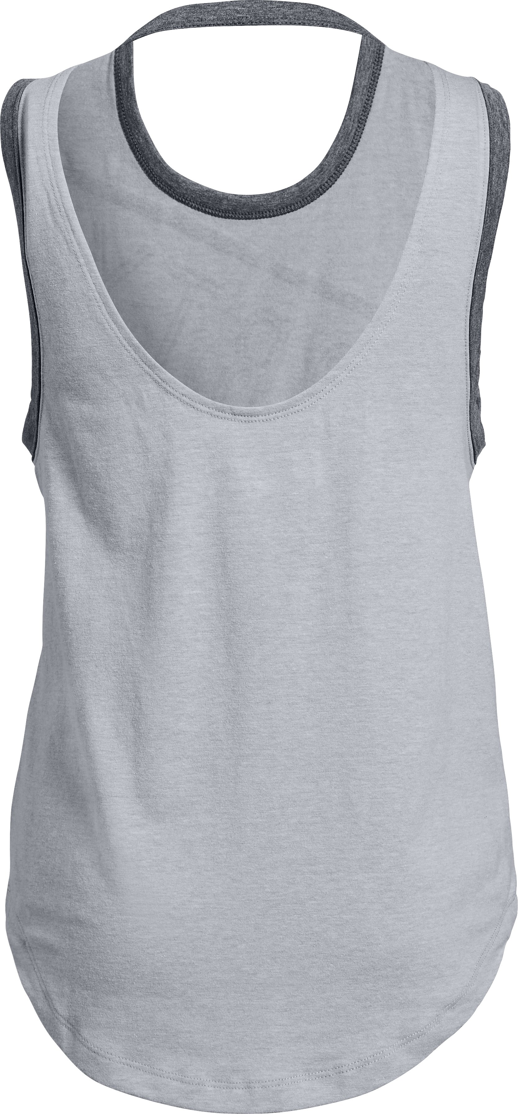 Girls' UA Finale 'Sporty Vibes' Tank, Overcast Gray Light Heather,