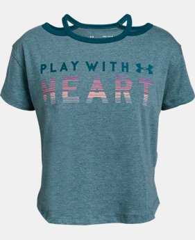 New Arrival Girls' UA Finale 'Play With Heart' T-Shirt  1  Color Available $20