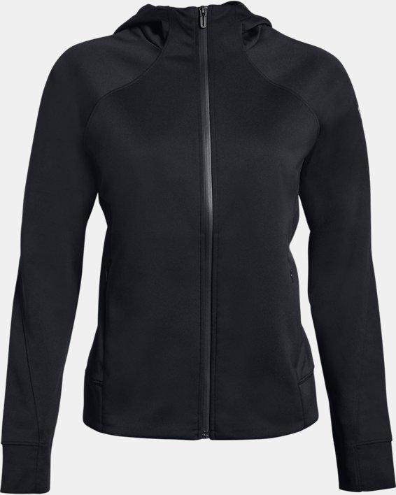Women's UA RECOVER™ Track Jacket, Black, pdpMainDesktop image number 3