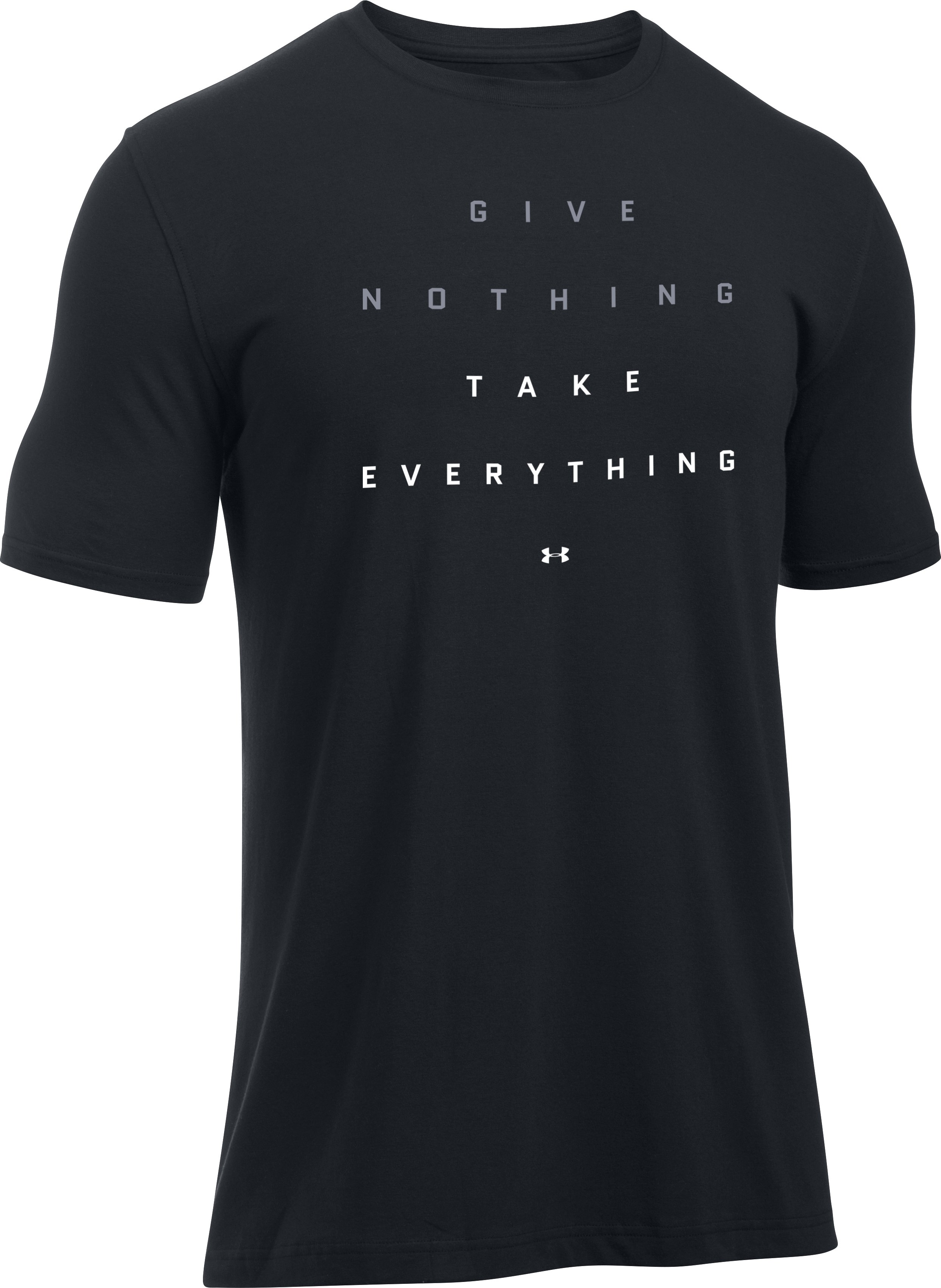 Men's UA Give Nothing T-Shirt, Black ,