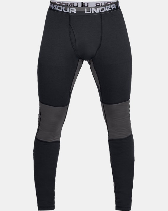 Men's UA Twill Extreme Base Leggings, Black, pdpMainDesktop image number 3