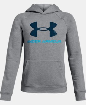 Boys' UA Rival Logo Hoodie  4  Colors Available $50