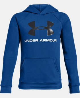New Arrival Boys' UA Rival Logo Hoodie FREE U.S. SHIPPING 2  Colors Available $40
