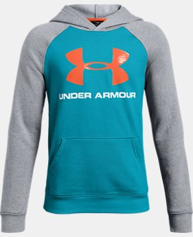 Boys' UA Rival Logo Hoodie  2  Colors Available $40