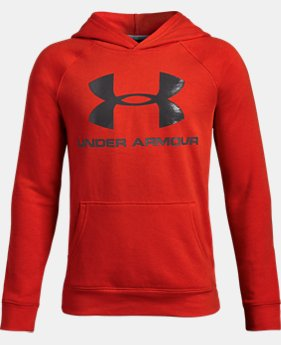 Boys' UA Rival Logo Hoodie  1  Color Available $34.99