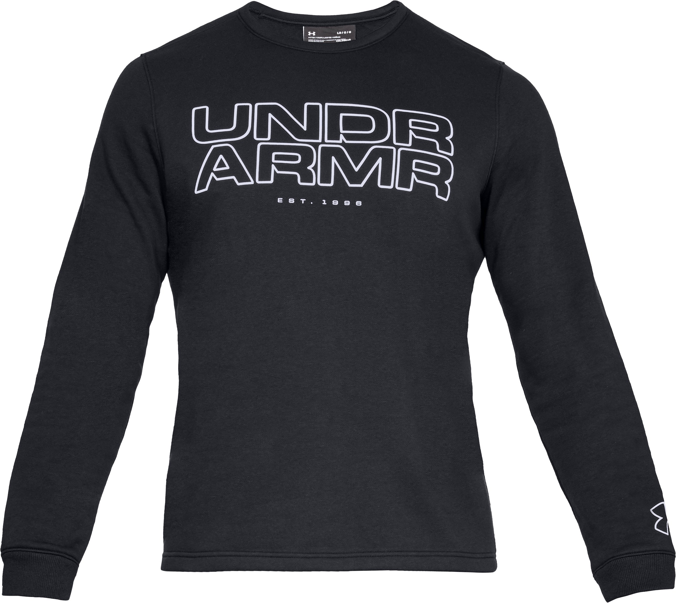 Men's UA Baseline Fleece Crew, Black ,