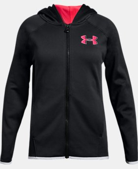 New Arrival Girls' Armour Fleece® Full Zip Hoodie  2  Colors Available $45
