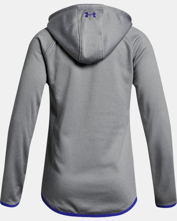 Girls' Armour Fleece® Full Zip Hoodie, Gray, pdpMainDesktop image number 1