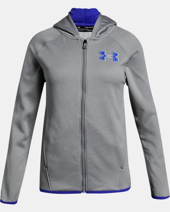 Girls' Armour Fleece® Full Zip Hoodie, Gray, pdpMainDesktop image number 0