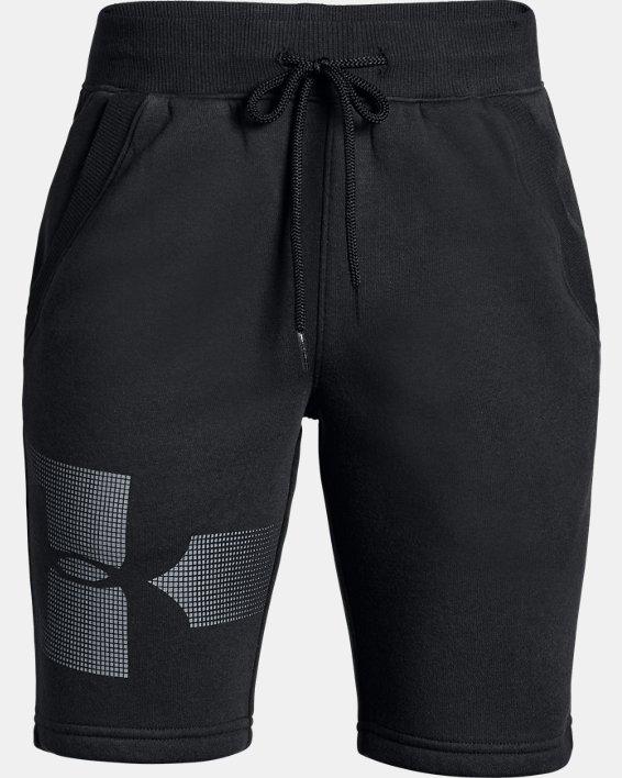 Boys' UA Rival Fleece Shorts - Graphic, Black, pdpMainDesktop image number 0