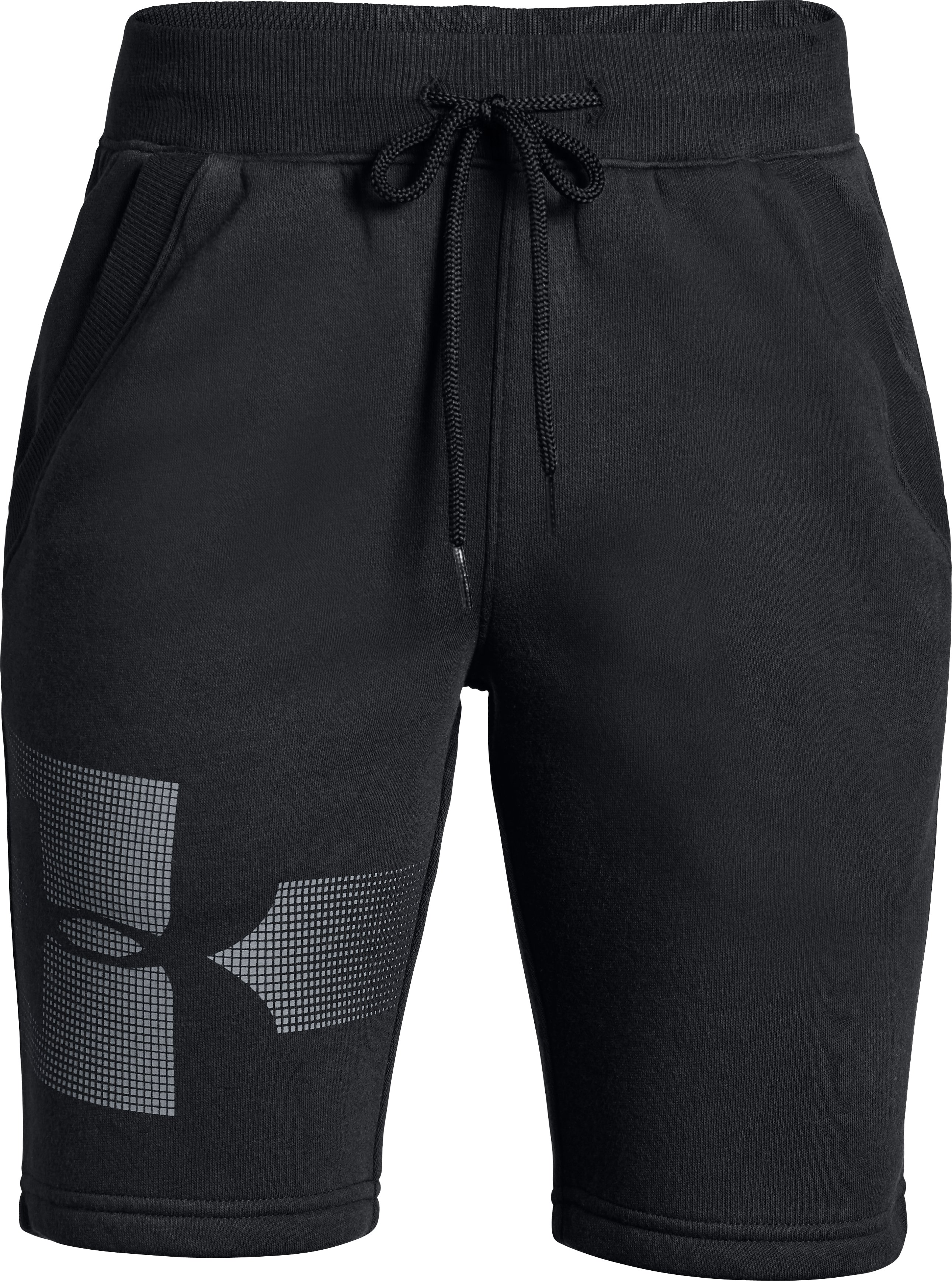 Rival Graphic Fleece Short, Black , zoomed