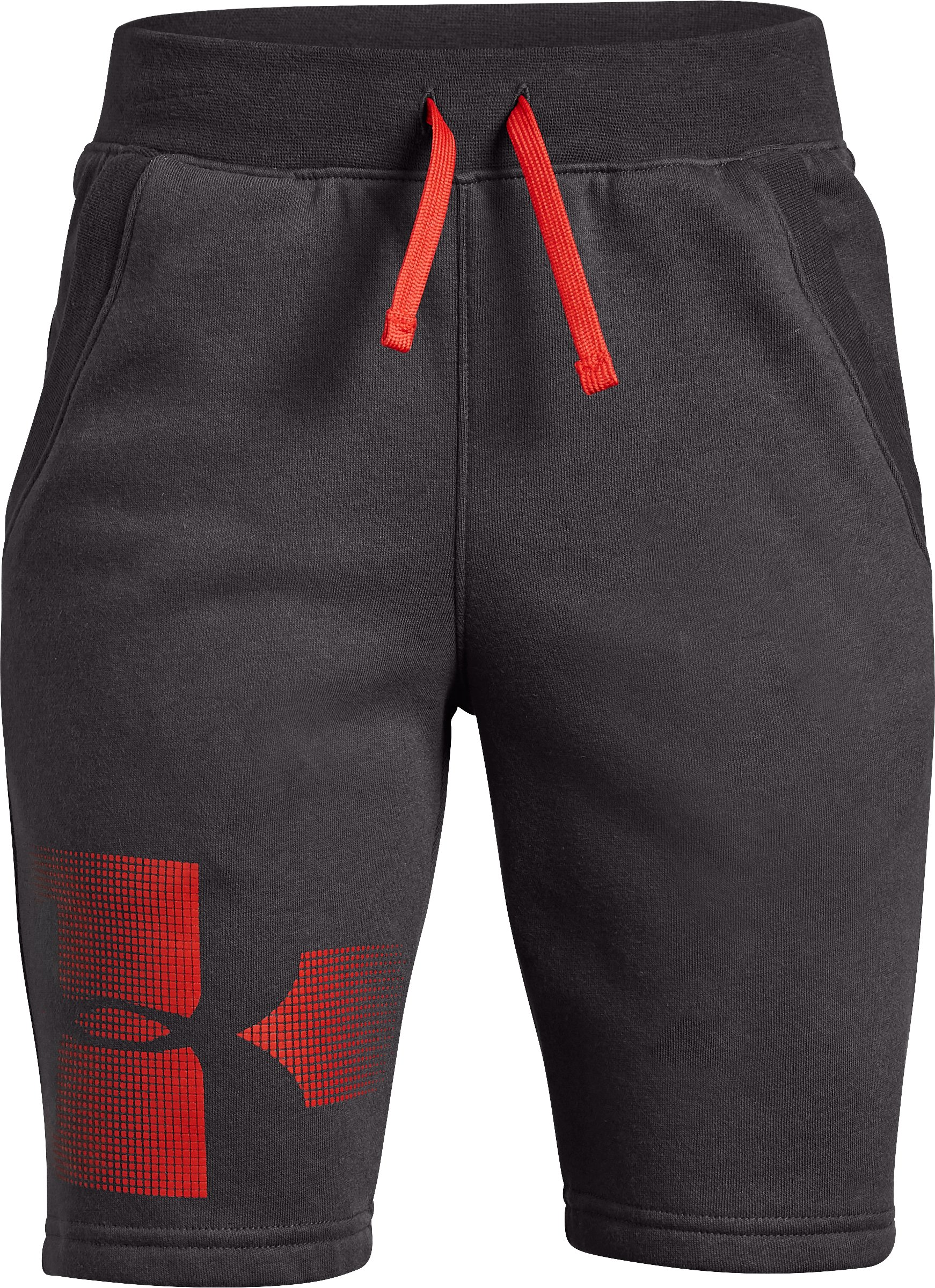 Boys' UA Rival Fleece Shorts - Graphic, Charcoal,