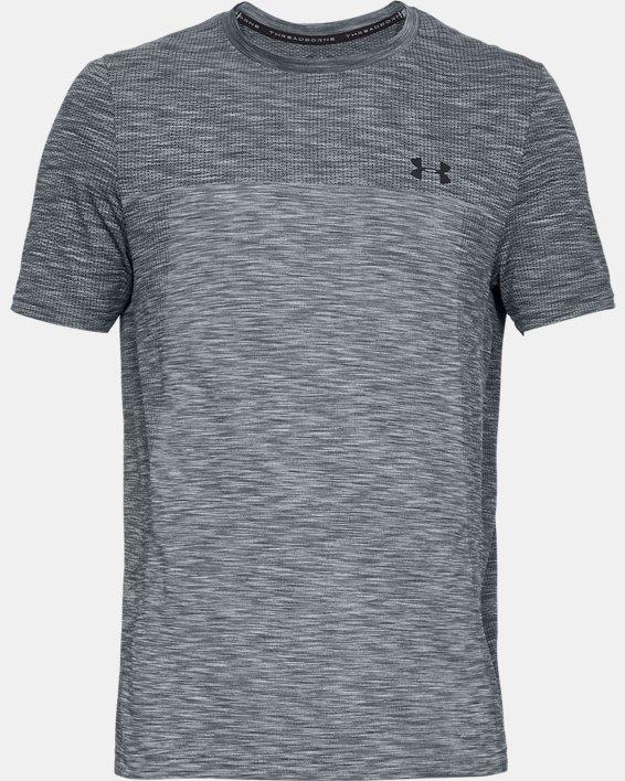 Men's UA Vanish Seamless Short Sleeve, Gray, pdpMainDesktop image number 3