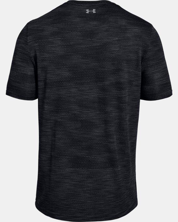 Men's UA Vanish Seamless Camo Short Sleeve, Black, pdpMainDesktop image number 5