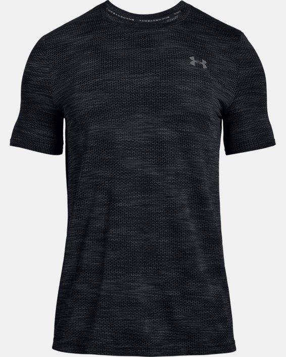Men's UA Vanish Seamless Camo Short Sleeve, Black, pdpMainDesktop image number 4
