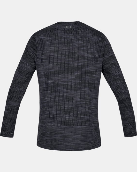 Men's UA Vanish Seamless Camo Long Sleeve, Black, pdpMainDesktop image number 5