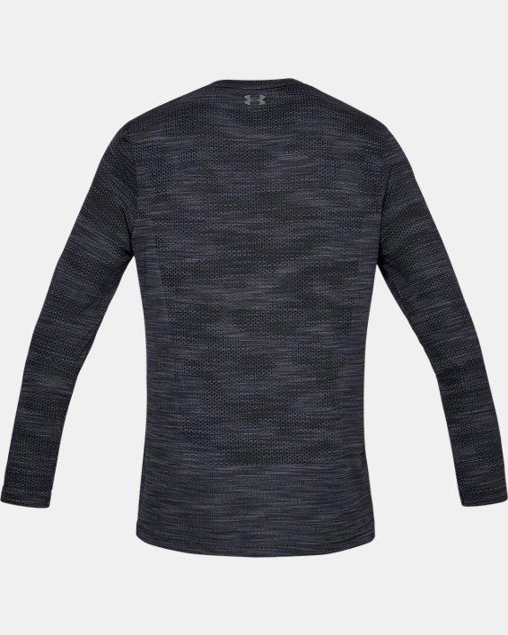 Men's UA Vanish Seamless Camo Long Sleeve, Black, pdpMainDesktop image number 5
