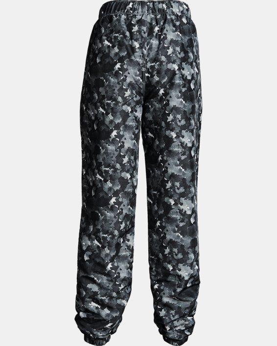 Girls' UA Phenom Hybrid Printed Pants, Black, pdpMainDesktop image number 1