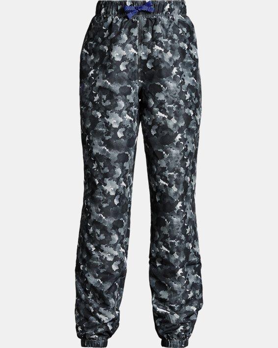 Girls' UA Phenom Hybrid Printed Pants, Black, pdpMainDesktop image number 0