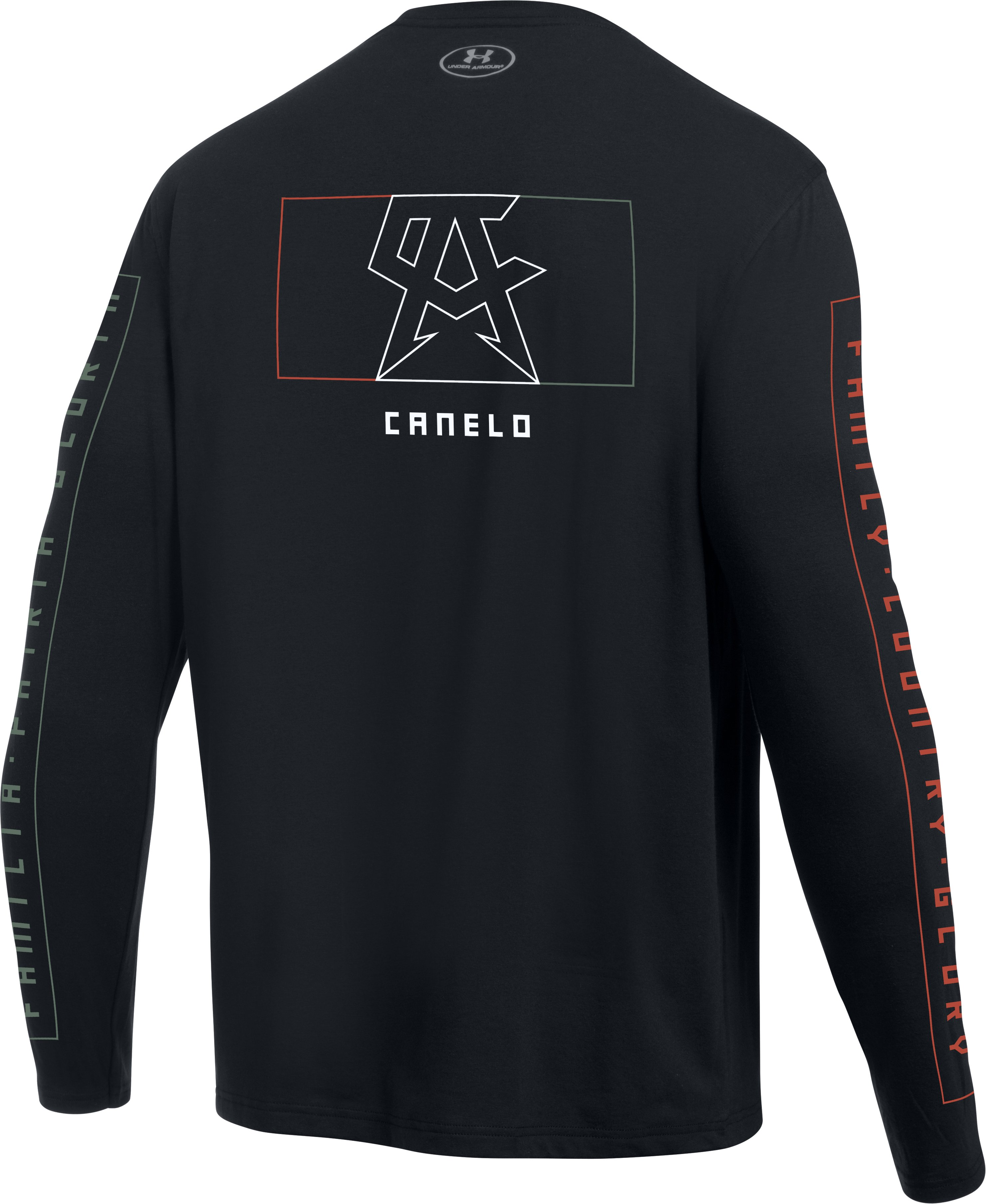 Men's UA Canelo Left Chest Long Sleeve T-Shirt, Black , undefined