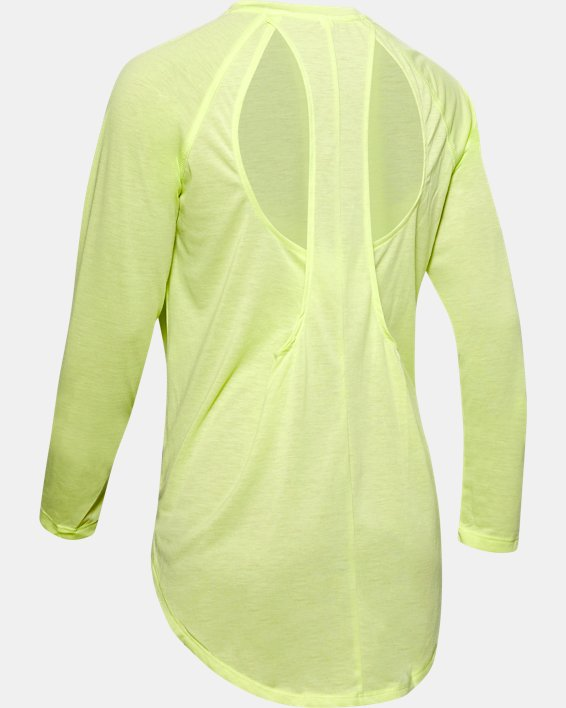 Women's UA Open Back Long Sleeve, Green, pdpMainDesktop image number 4