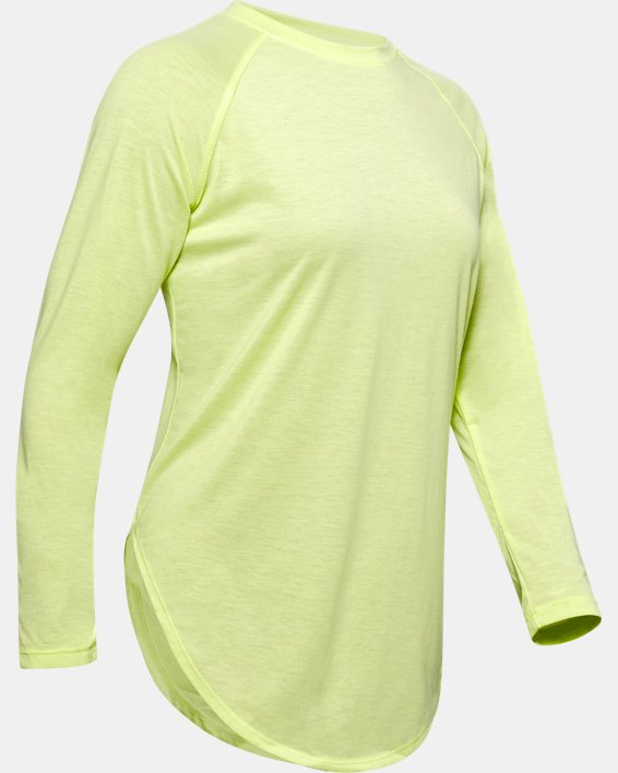 Women's UA Open Back Long Sleeve, Green, pdpMainDesktop image number 3
