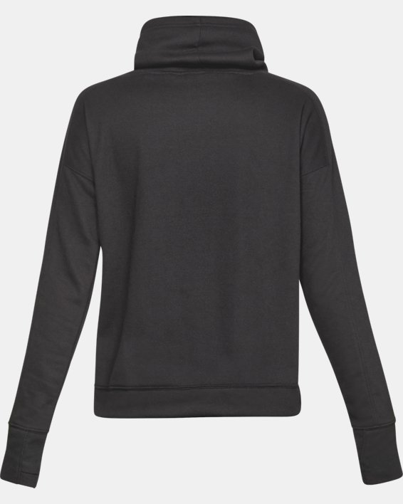 Women's UA Tech™ Terry Graphic Funnel Neck, Gray, pdpMainDesktop image number 4
