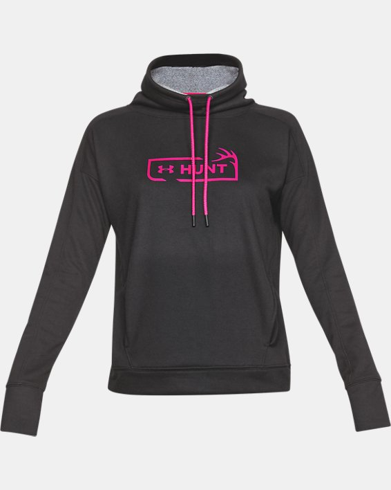 Women's UA Tech™ Terry Graphic Funnel Neck, Gray, pdpMainDesktop image number 3