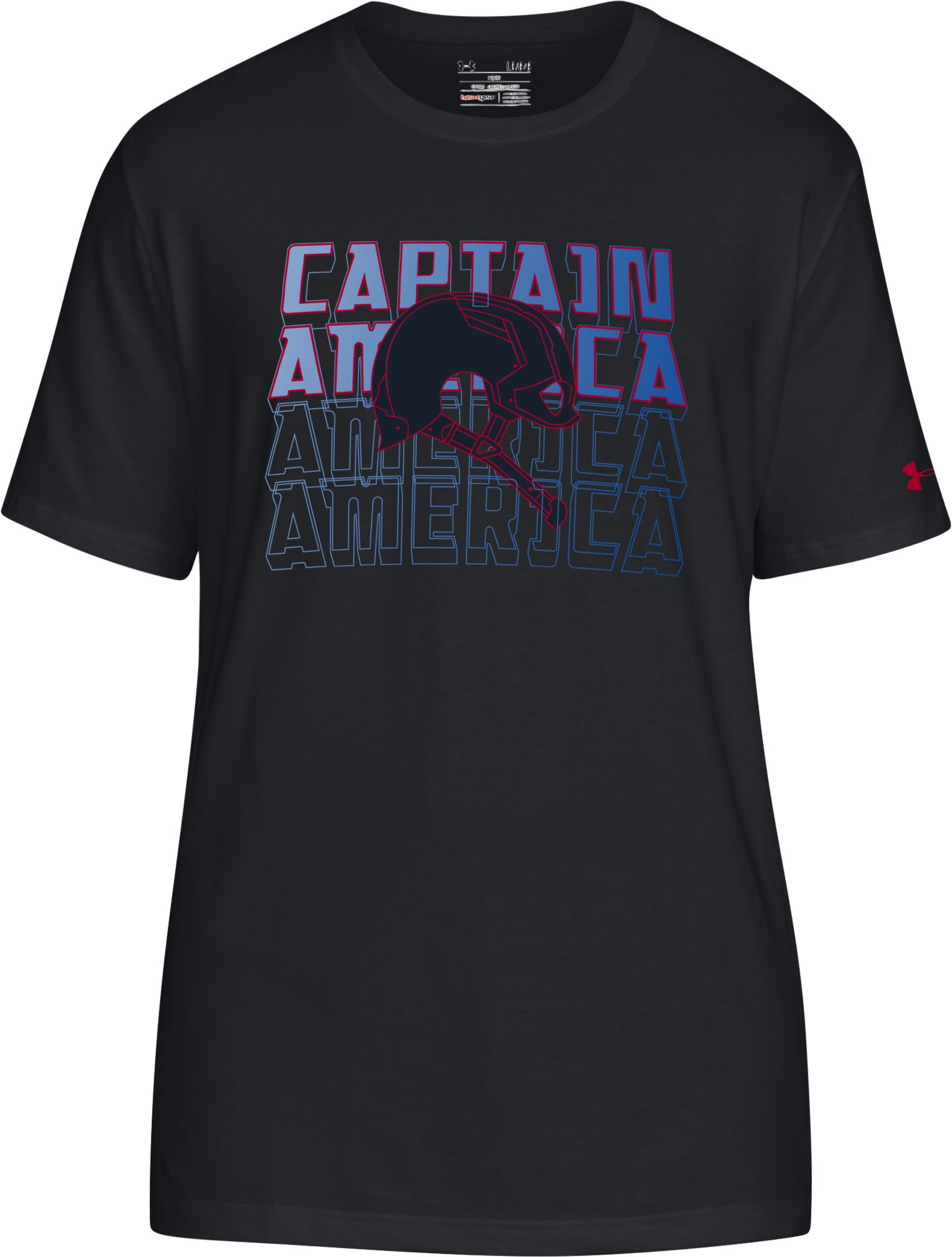 Men's UA Captain America T-Shirt, Black , undefined