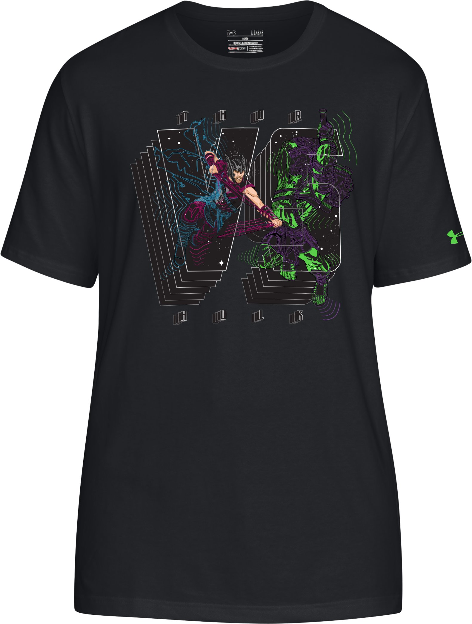 Men's UA Thor Worlds Collide T-Shirt, Black , undefined