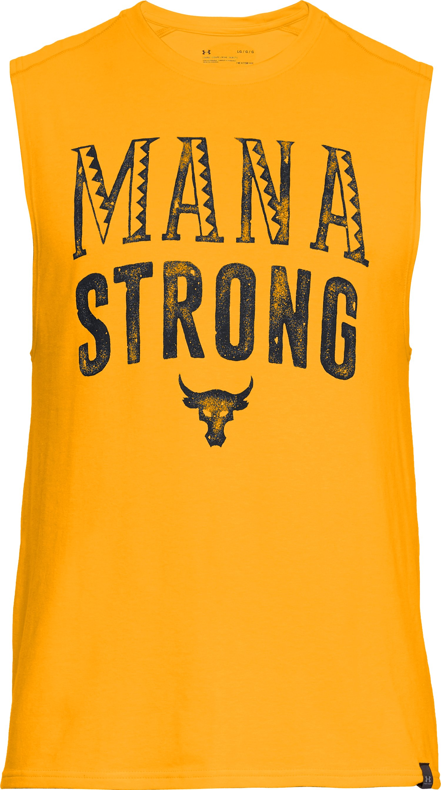 Men's UA x Project Rock Mana Strong Tank, Steeltown Gold,