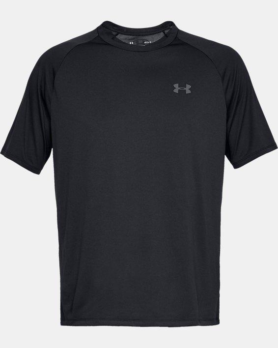 Men's UA Tech™ 2.0 Short Sleeve, Black, pdpMainDesktop image number 4