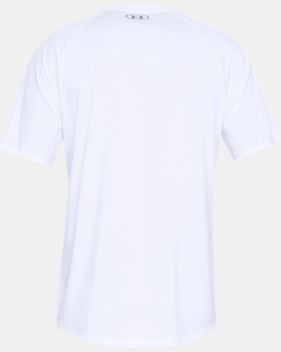 Men's UA Tech™ 2.0 Short Sleeve, White, pdpMainDesktop image number 5