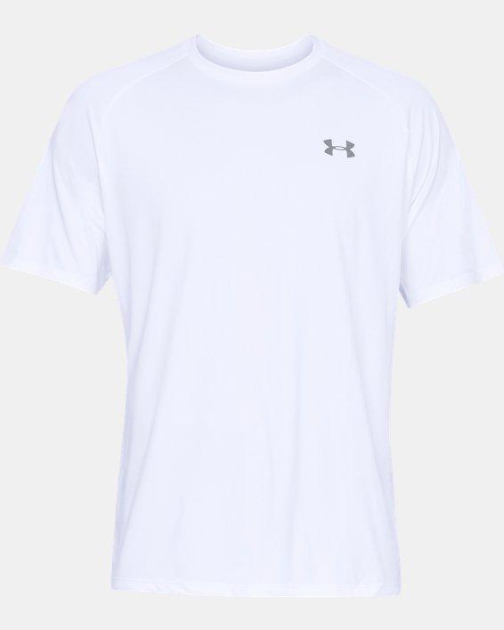 Men's UA Tech™ 2.0 Short Sleeve, White, pdpMainDesktop image number 3