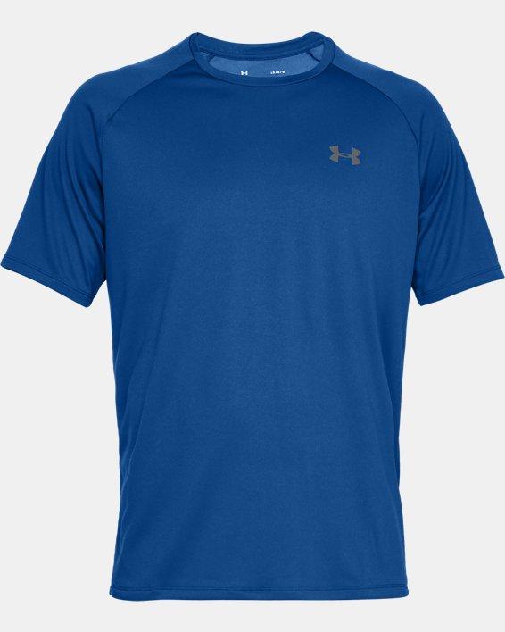 Men's UA Tech™ 2.0 Short Sleeve, Blue, pdpMainDesktop image number 4