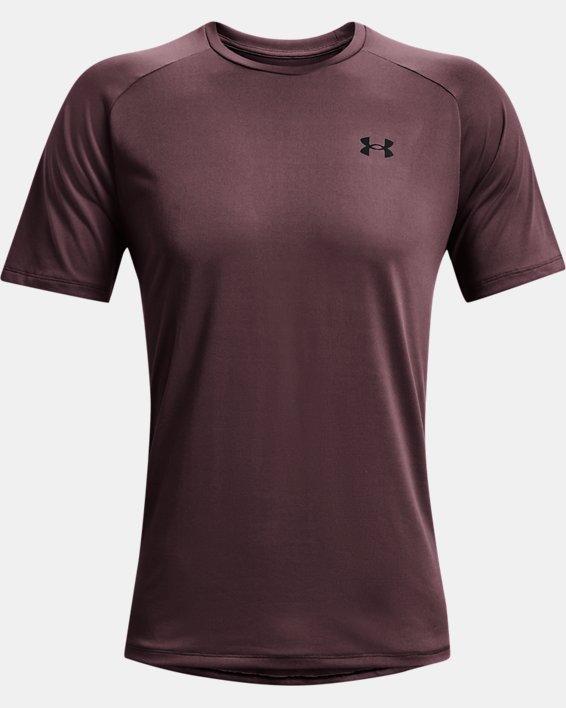 Men's UA Tech™ 2.0 Short Sleeve, Purple, pdpMainDesktop image number 4