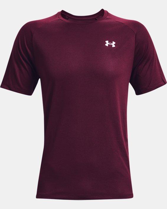 Men's UA Tech™ 2.0 Short Sleeve, Red, pdpMainDesktop image number 4