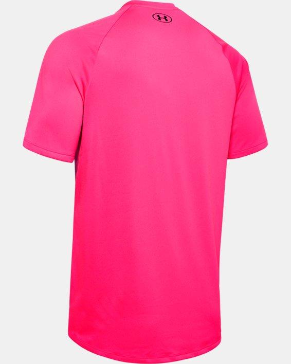 Men's UA Tech™ 2.0 Short Sleeve, Pink, pdpMainDesktop image number 5