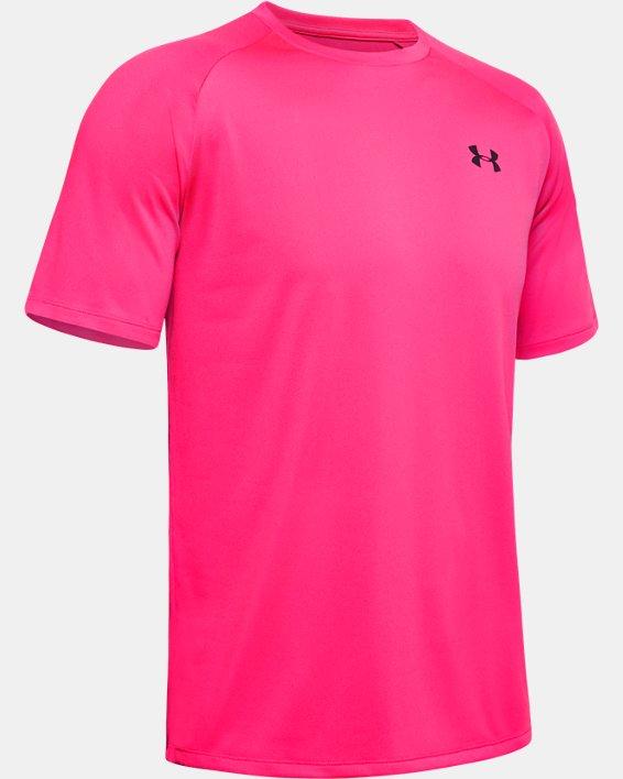 Men's UA Tech™ 2.0 Short Sleeve, Pink, pdpMainDesktop image number 4
