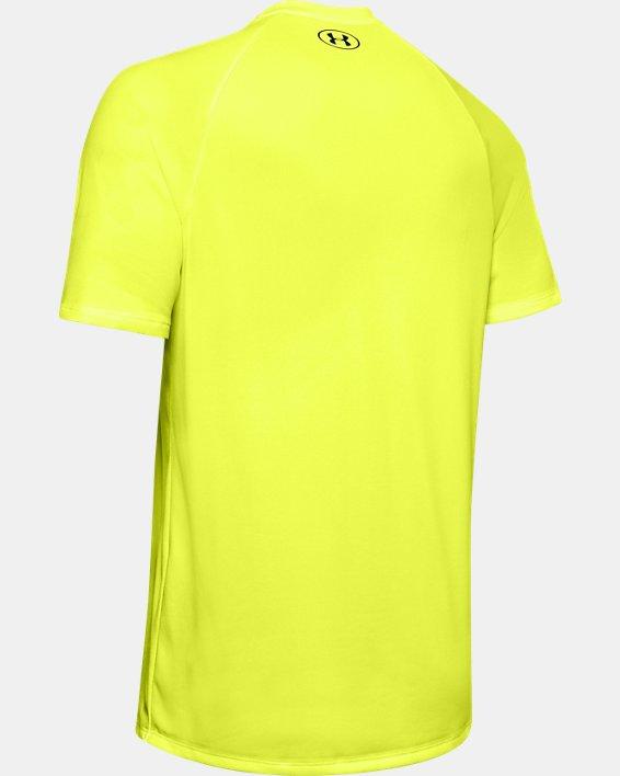 Men's UA Tech™ 2.0 Short Sleeve, Yellow, pdpMainDesktop image number 5