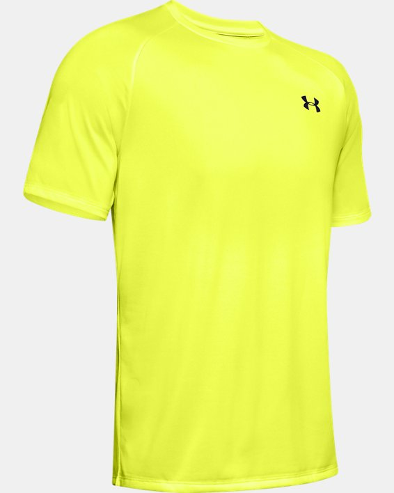 Men's UA Tech™ 2.0 Short Sleeve, Yellow, pdpMainDesktop image number 4