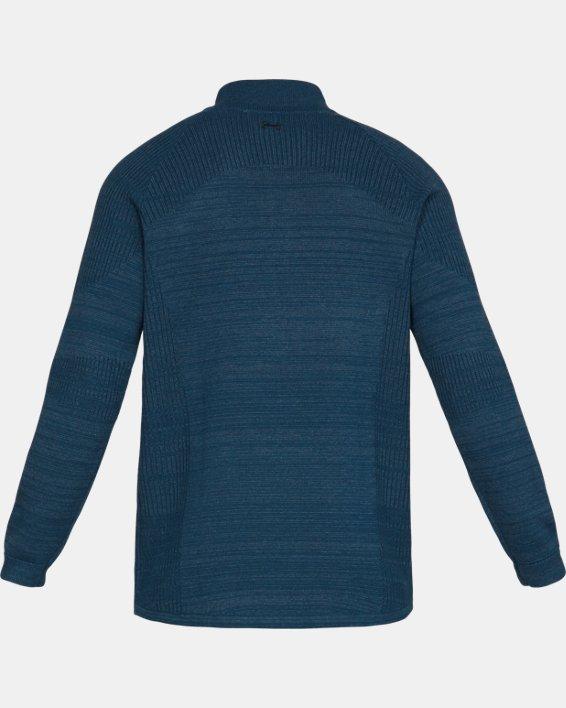 Men's UA Threadborne ½ Zip Sweater, Blue, pdpMainDesktop image number 5