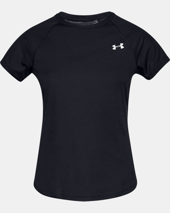 Women's UA Speed Stride Short Sleeve, Black, pdpMainDesktop image number 4