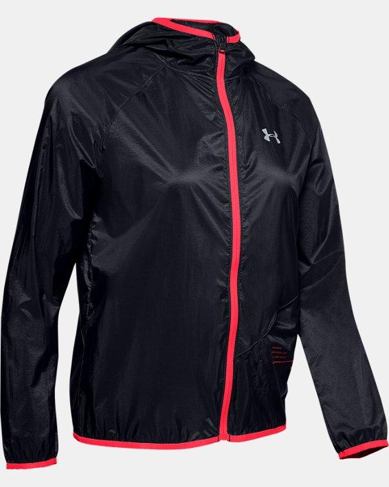 Women's UA Qualifier Storm Packable Jacket, Black, pdpMainDesktop image number 3
