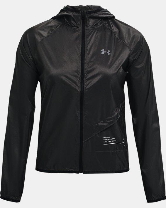 Women's UA Qualifier Storm Packable Jacket, Gray, pdpMainDesktop image number 3